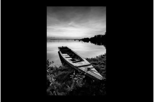 Картина  Лодка у озера